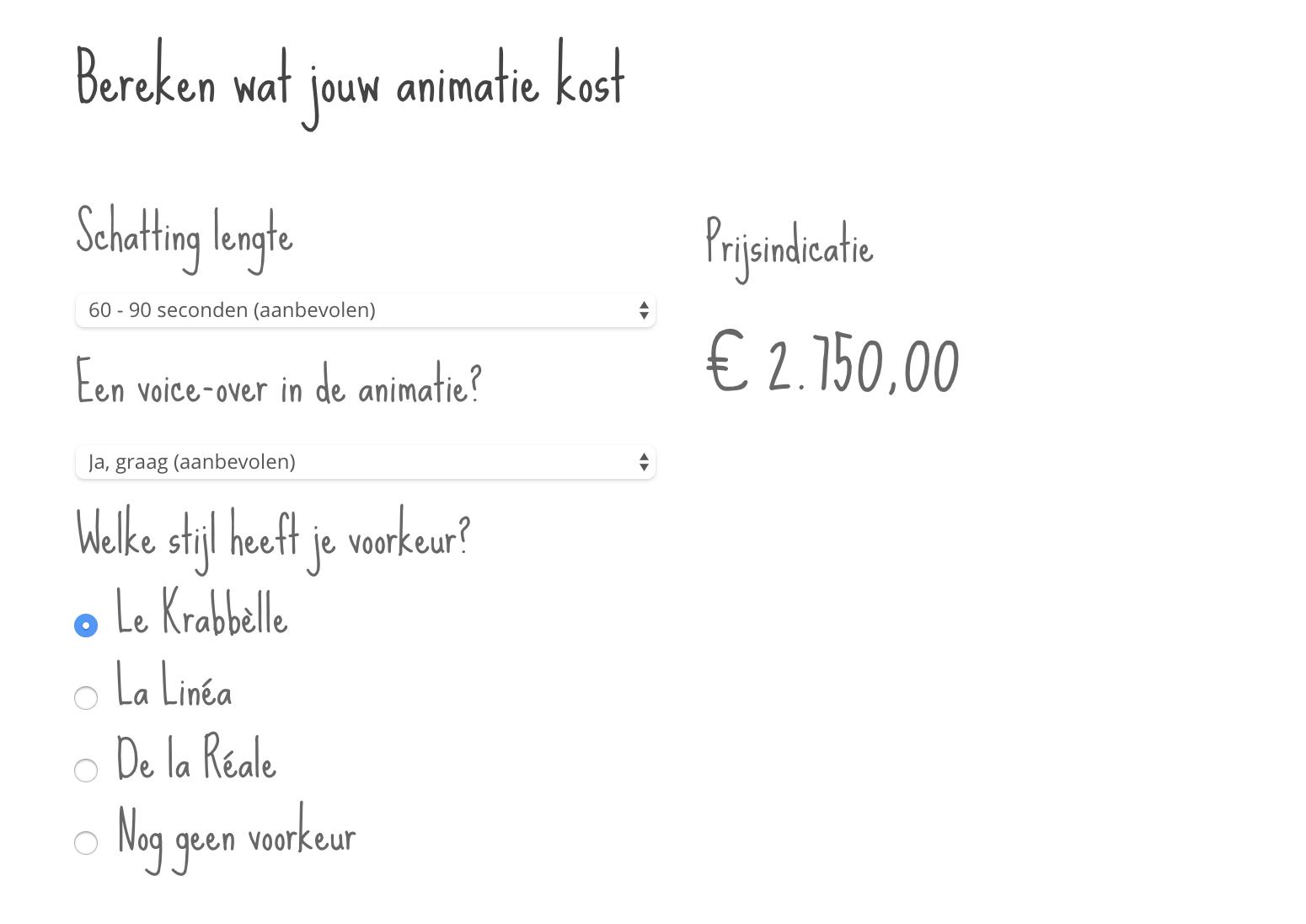 whiteboard animatie kosten